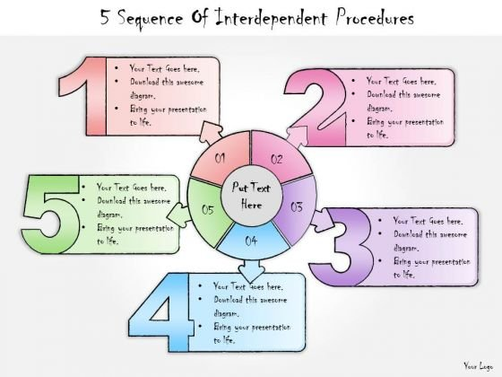 Ppt Slide 5 Sequence Of Interdependent Procedures Business Diagrams