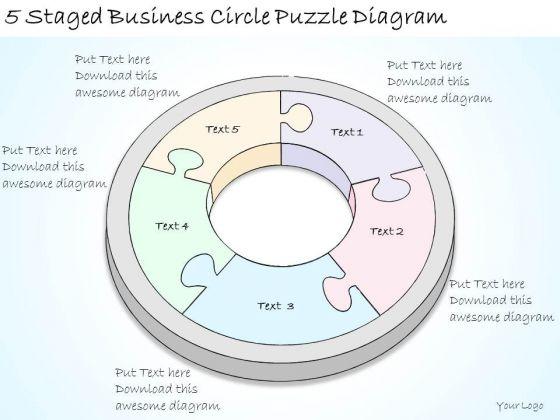 Ppt Slide 5 Staged Business Circle Puzzle Diagram Sales Plan