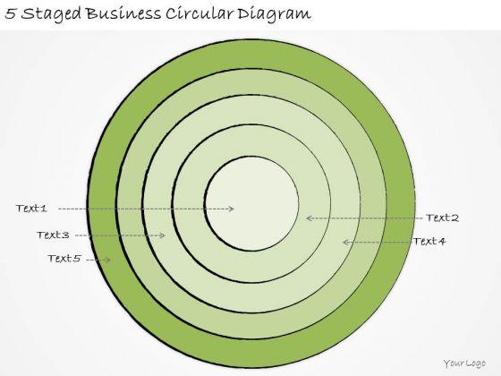Ppt Slide 5 Staged Business Circular Diagram Sales Plan