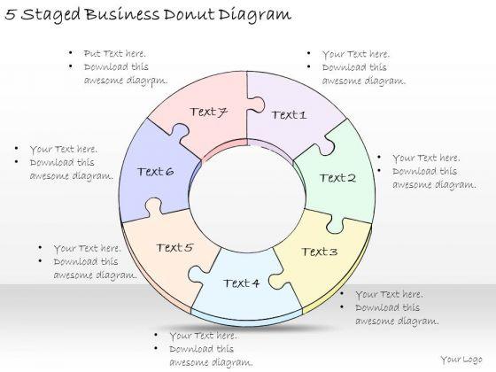 Ppt Slide 5 Staged Business Donut Diagram Sales Plan