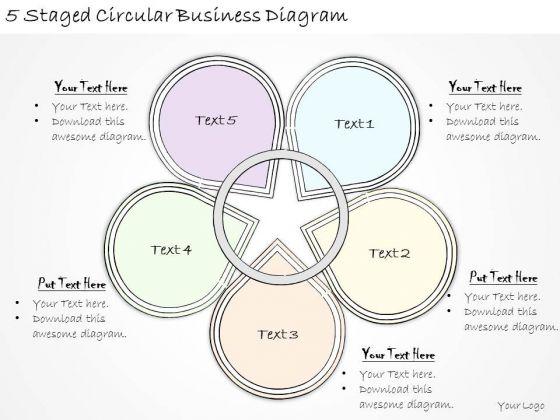 Ppt Slide 5 Staged Circular Business Diagram Sales Plan