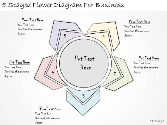 Ppt Slide 5 Staged Flower Diagram For Business Sales Plan