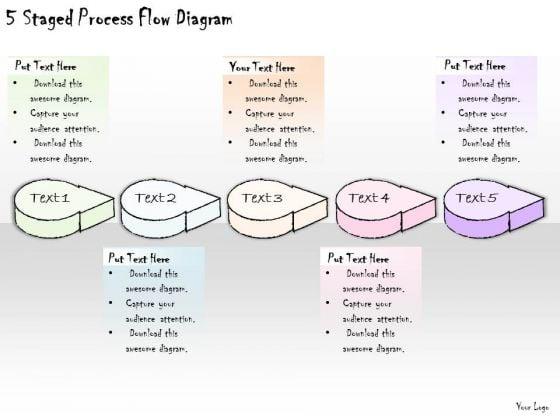 Ppt Slide 5 Staged Process Flow Diagram Strategic Planning