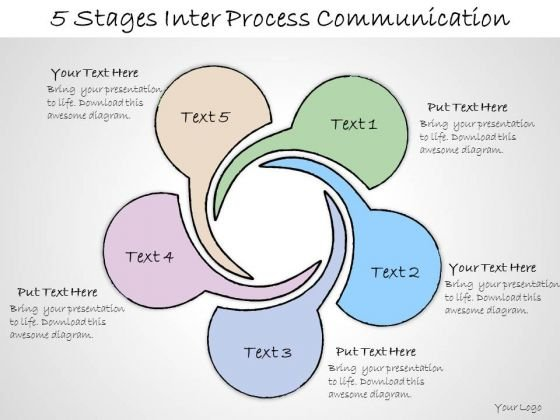 Ppt Slide 5 Stages Inter Process Communication Business Diagrams