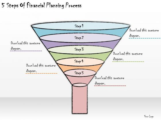 Ppt Slide 5 Steps Of Financial Planning Process Business Diagrams