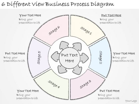 Ppt Slide 6 Different View Business Process Diagram Strategic Planning
