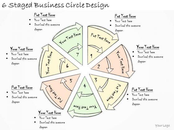 Ppt Slide 6 Staged Business Circle Design Diagrams