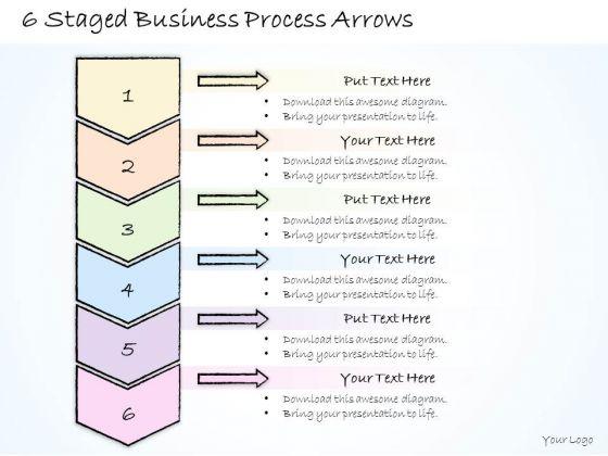 Ppt Slide 6 Staged Business Process Arrows Sales Plan