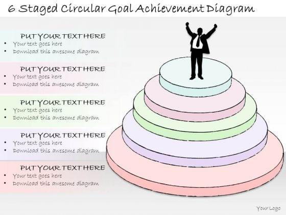Ppt Slide 6 Staged Circular Goal Achievement Diagram Strategic Planning