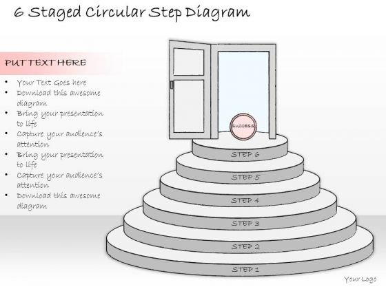 Ppt Slide 6 Staged Circular Step Diagram Consulting Firms