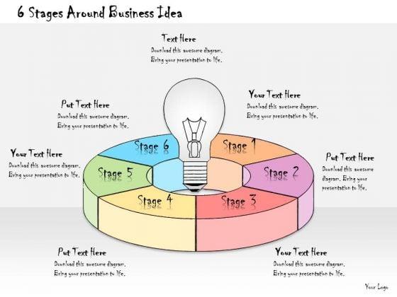 Ppt Slide 6 Stages Around Business Idea Marketing Plan