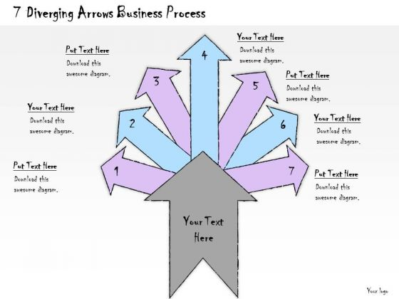 Ppt Slide 7 Diverging Arrows Business Process Marketing Plan