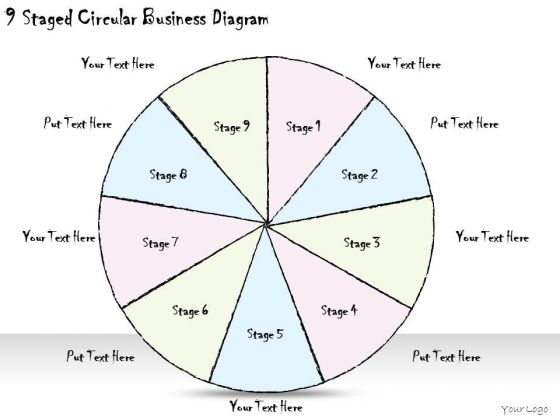 Ppt Slide 9 Staged Circular Business Diagram Diagrams