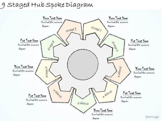 Ppt Slide 9 Staged Hub Spoke Diagram Business Diagrams