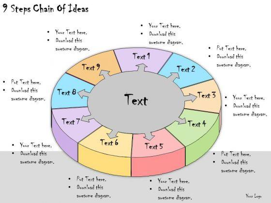 Ppt Slide 9 Steps Chain Of Ideas Strategic Planning