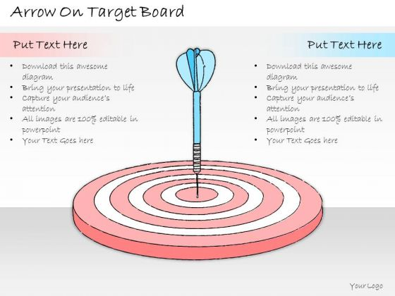 Ppt Slide Arrow On Target Board Business Plan