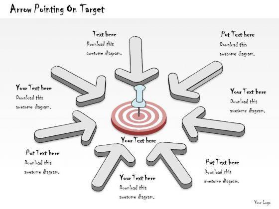 Ppt Slide Arrow Pointing On Target Sales Plan