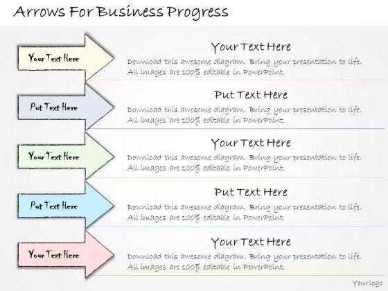 Ppt Slide Arrows For Business Progress Sales Plan