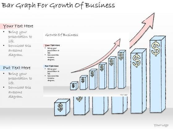 Ppt Slide Bar Graph For Growth Of Business Plan