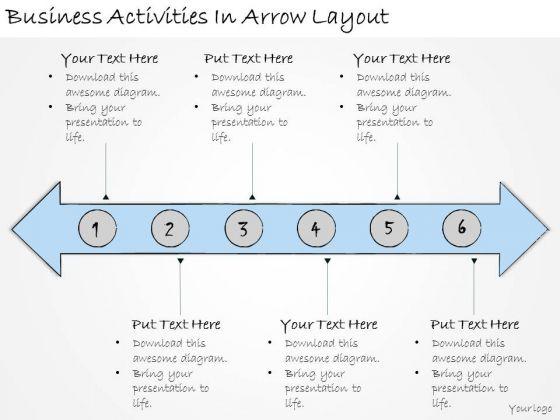 Ppt Slide Business Activities Arrow Layout Sales Plan