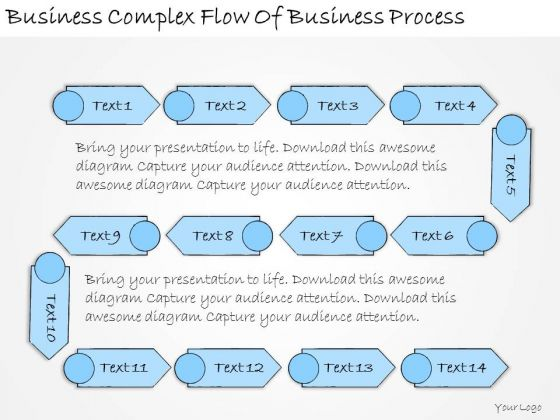 Ppt Slide Business Complex Flow Of Process Strategic Planning