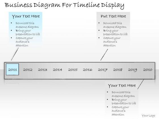 Ppt Slide Business Diagram For Timeline Display Strategic Planning