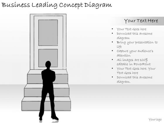 Ppt Slide Business Leading Concept Diagram Sales Plan