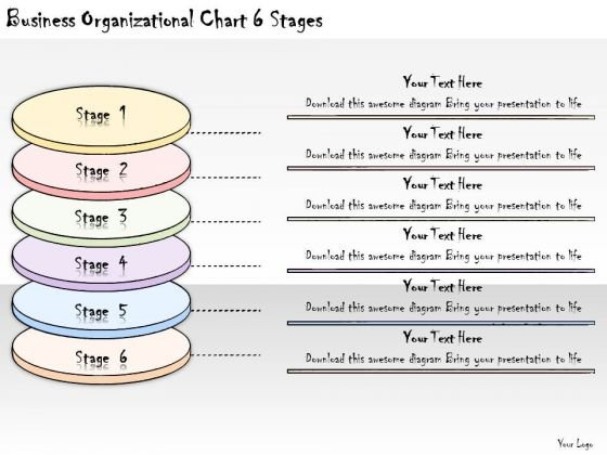 Ppt Slide Business Organizational Chart 6 Stages Diagrams