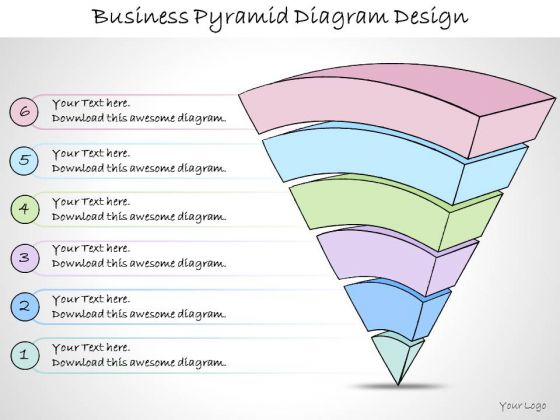 Ppt Slide Business Pyramid Diagram Design Diagrams
