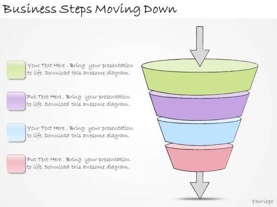 Ppt Slide Business Steps Moving Down Plan