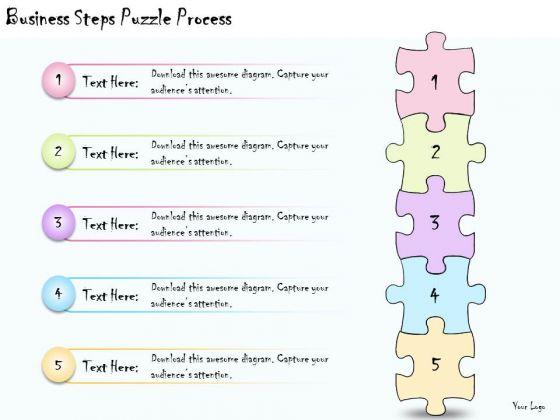 Ppt Slide Business Steps Puzzle Process Diagrams