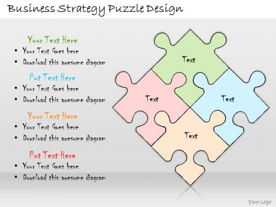 Ppt Slide Business Strategy Puzzle Design Plan