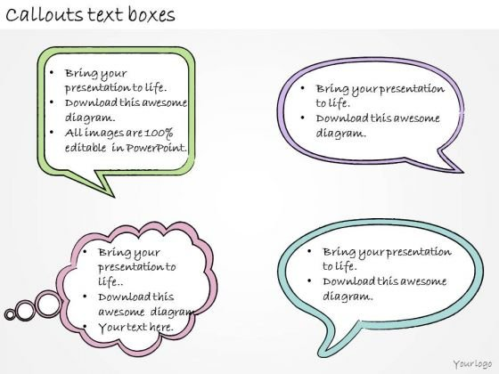 Ppt Slide Callouts Text Boxes Business Plan