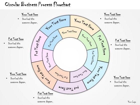 Ppt Slide Circular Business Process Flowchart Diagrams