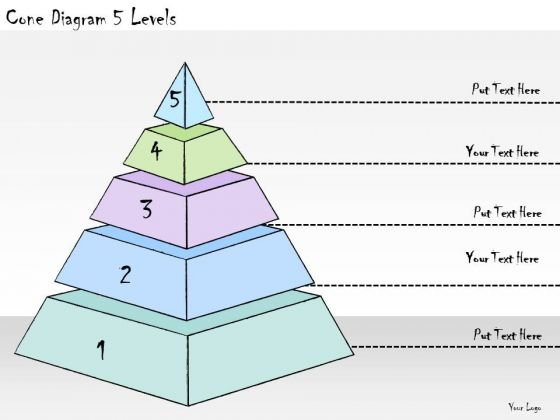 Ppt Slide Cone Diagram 5 Levels Business Plan