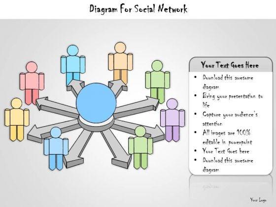 Ppt Slide Diagram For Social Network Marketing Plan