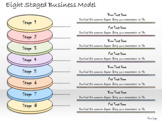 Ppt Slide Eight Staged Business Model Marketing Plan