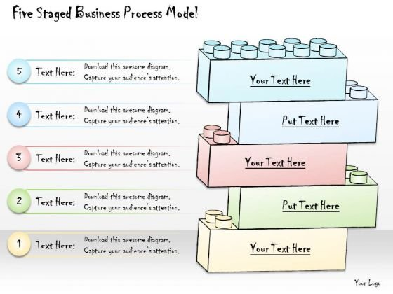 Ppt Slide Five Staged Business Process Model Consulting Firms