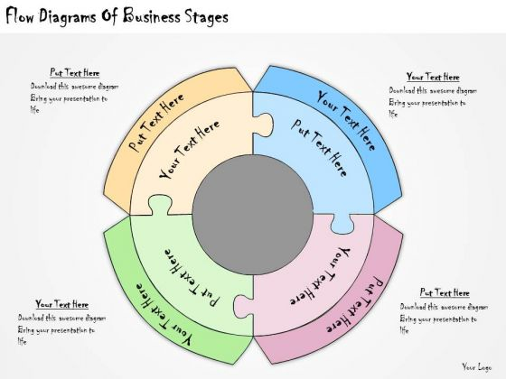 Ppt Slide Flow Diagrams Of Business Stages Strategic Planning
