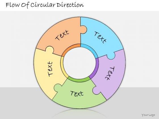 Ppt Slide Flow Of Circular Direction Business Diagrams