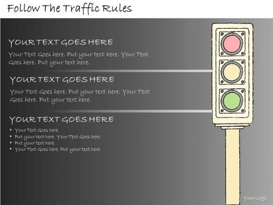 Ppt Slide Follow The Traffic Rules Marketing Plan