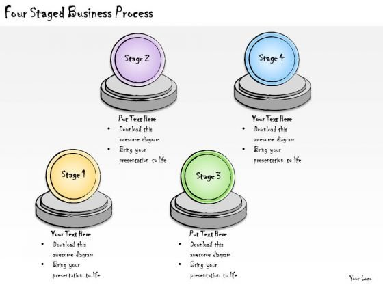 Ppt Slide Four Staged Business Process Diagrams