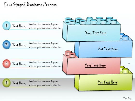 Ppt Slide Four Staged Business Process Plan