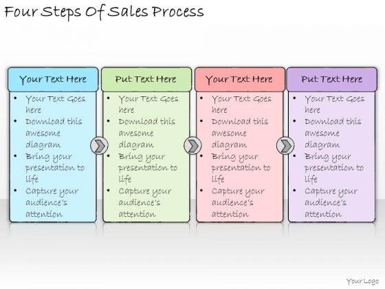 Ppt Slide Four Steps Of Sales Process Business Diagrams