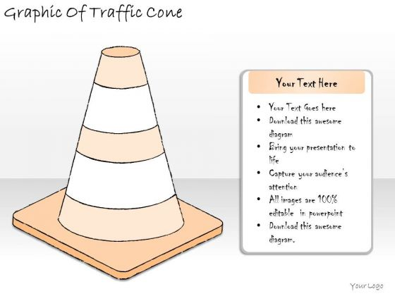 Ppt Slide Graphic Of Traffic Cone Marketing Plan