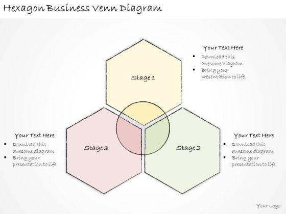 Ppt Slide Hexagon Business Venn Diagram Diagrams