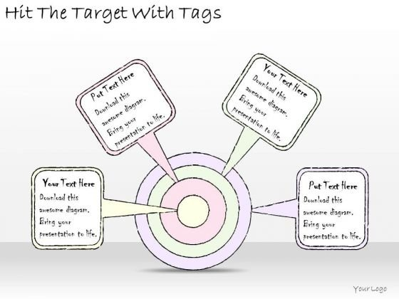 Ppt Slide Hit The Target With Tags Business Diagrams