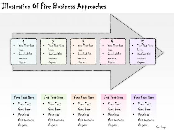 Ppt Slide Illustration Of Five Business Approaches Plan