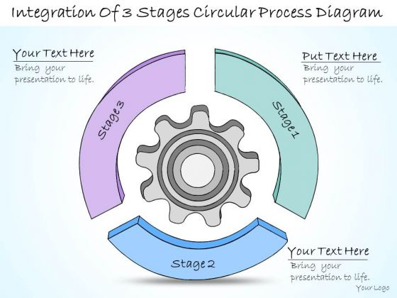 Ppt Slide Integration Of 3 Stages Circular Process Diagram Consulting Firms