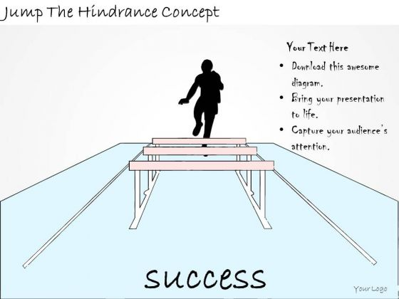 Ppt Slide Jump The Hindrance Concept Sales Plan